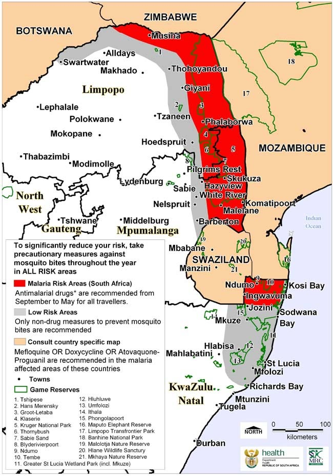 Information about Malaria in South Africa